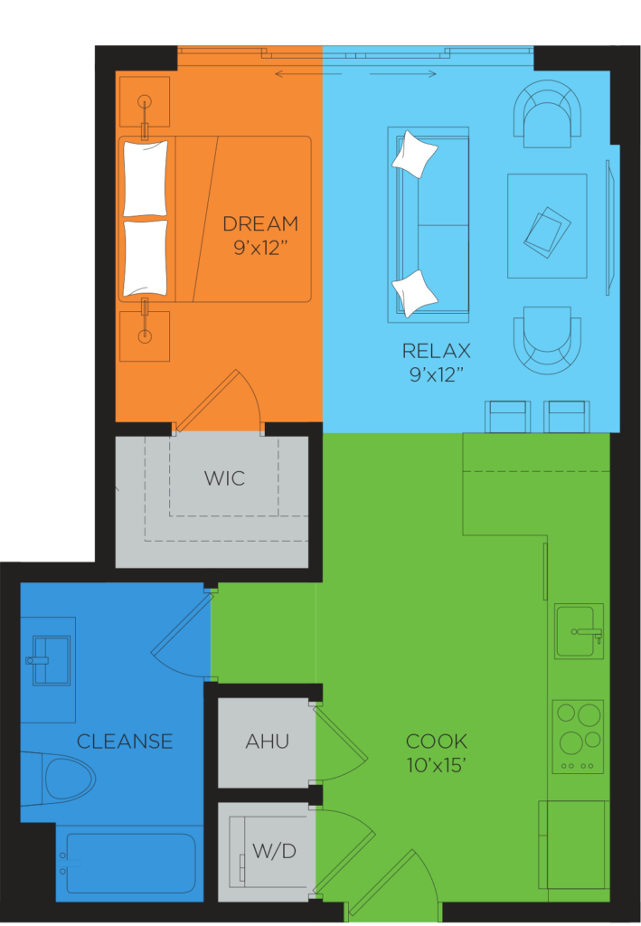 A2 Studio Floor Plan