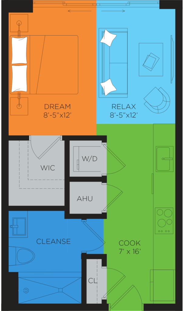 A3.5 Studio Floor Plan