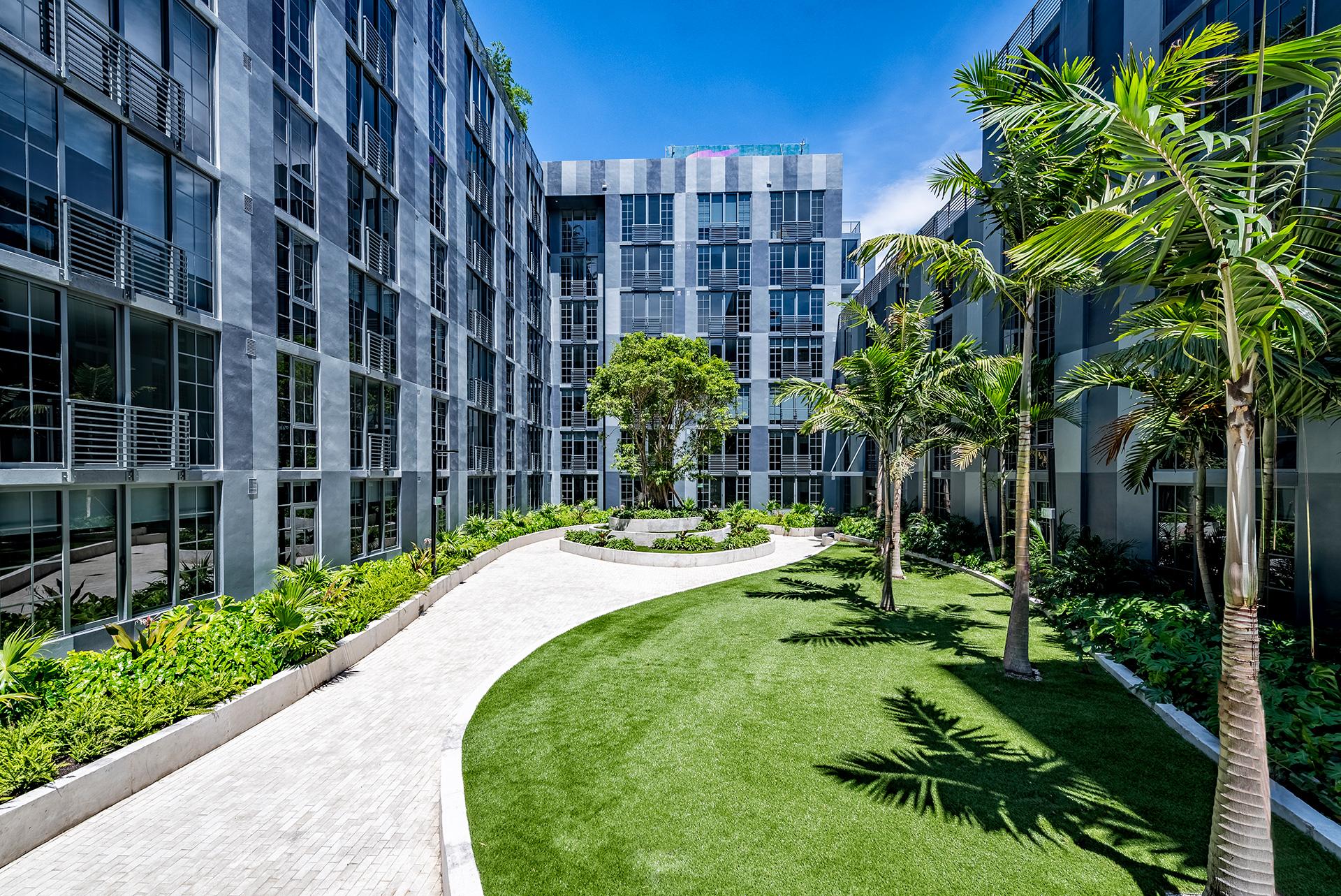 Courtyard and Zen Garden