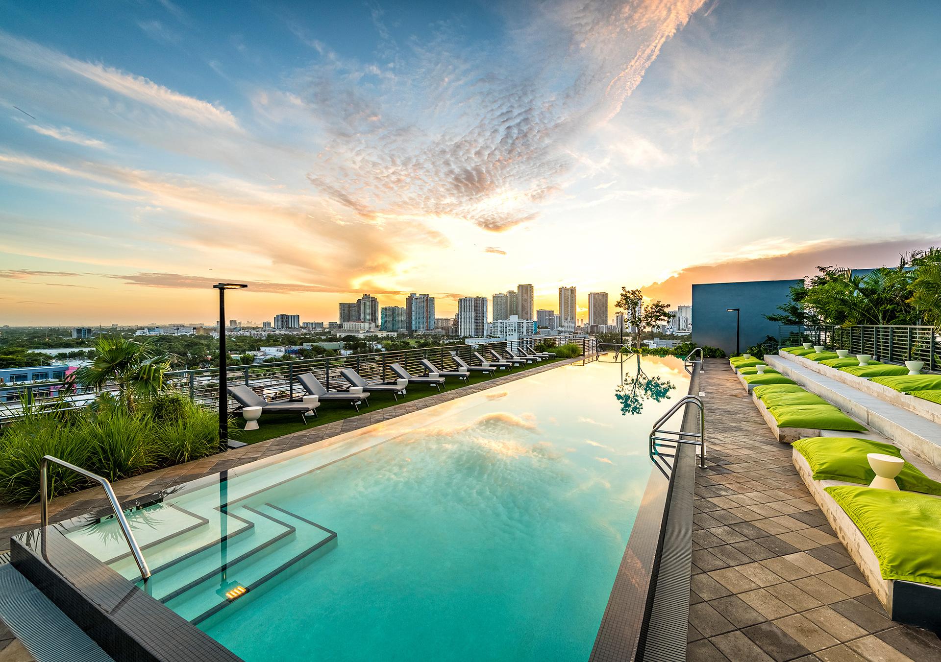 rooftop heated pool