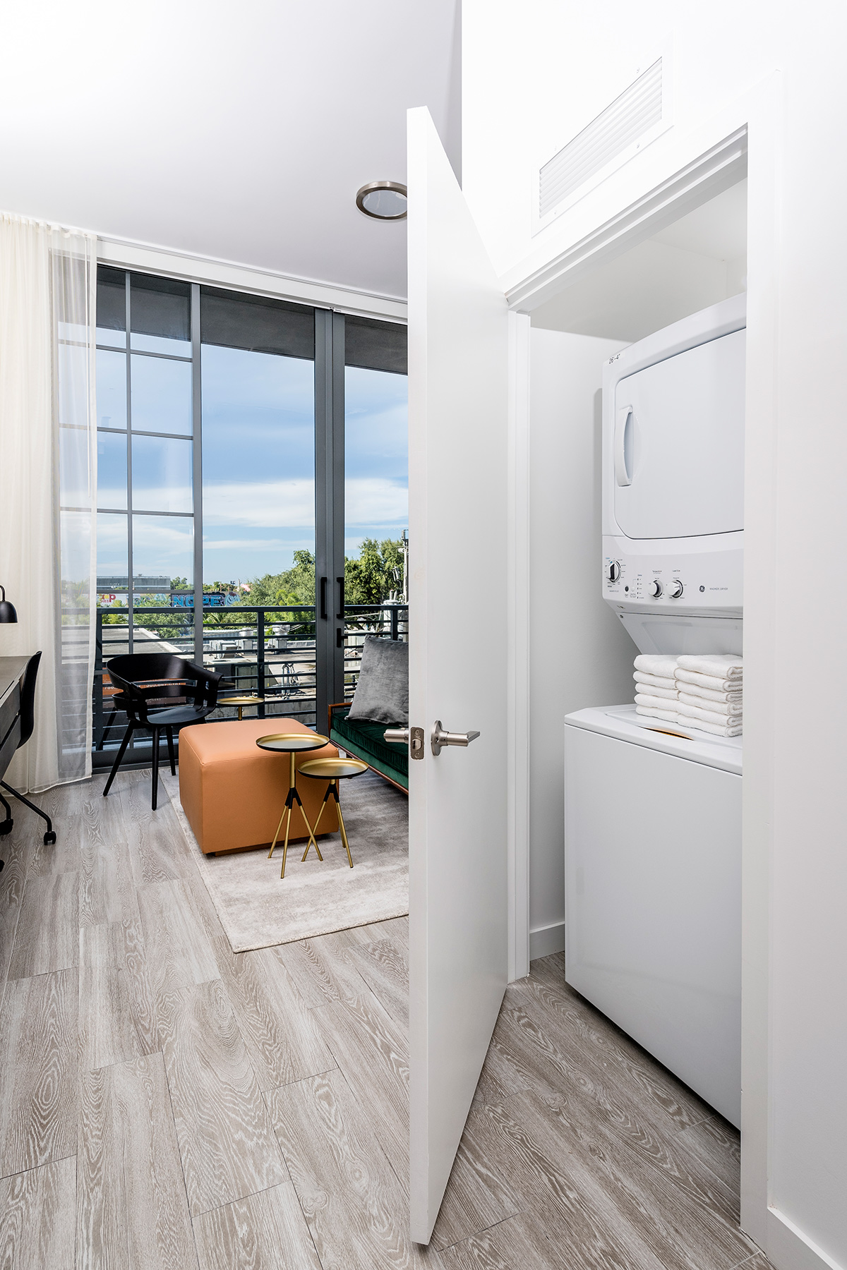 Studio apartment washer and dryer
